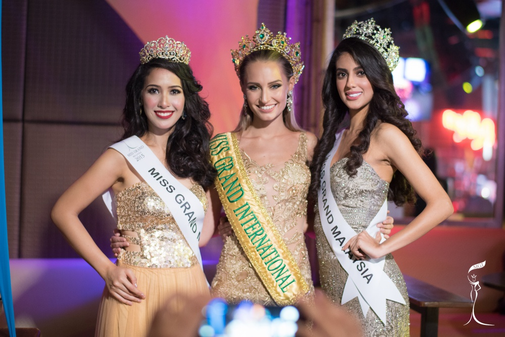 Claire Elizabeth Parker, Miss Grand International 2015 recently visited  Kuala Lumpur, Malaysia as a distinguished guest and witness for Miss Grand Malaysia 2016 coronation event held to announce Mala